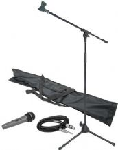 Dynamic Microphone Package. Microphone, Stand, 3 metre cable and Carry Bag